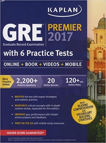 کتاب Cracking the GRE Premium 2017 Edition Kaplan